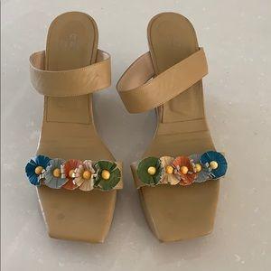 Vintage Fendi heels with flower detail